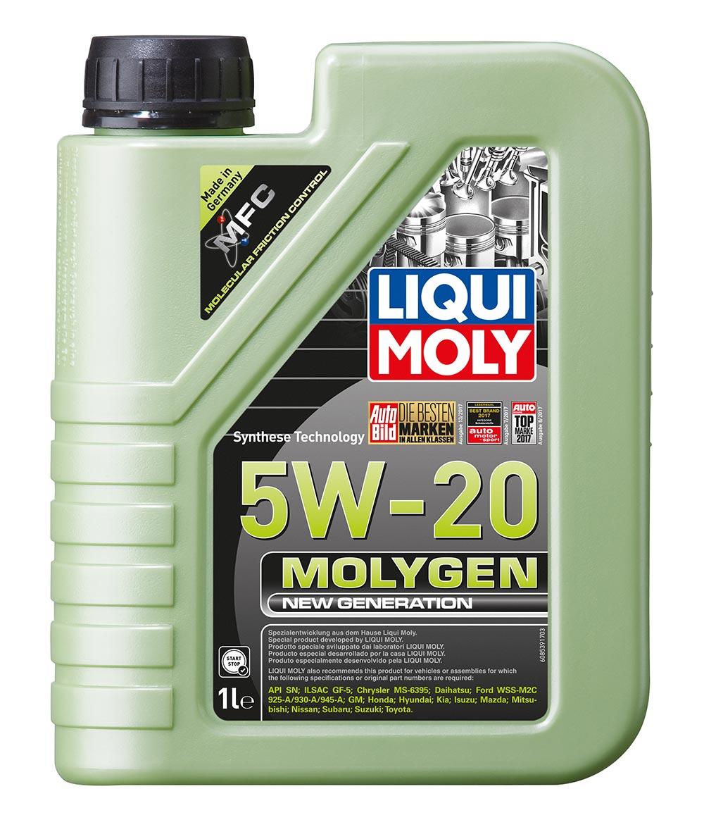 Масло моторное синт.5W20 Molygen New Generation 1л API SN ILSAC GF-5 Chrysler MS