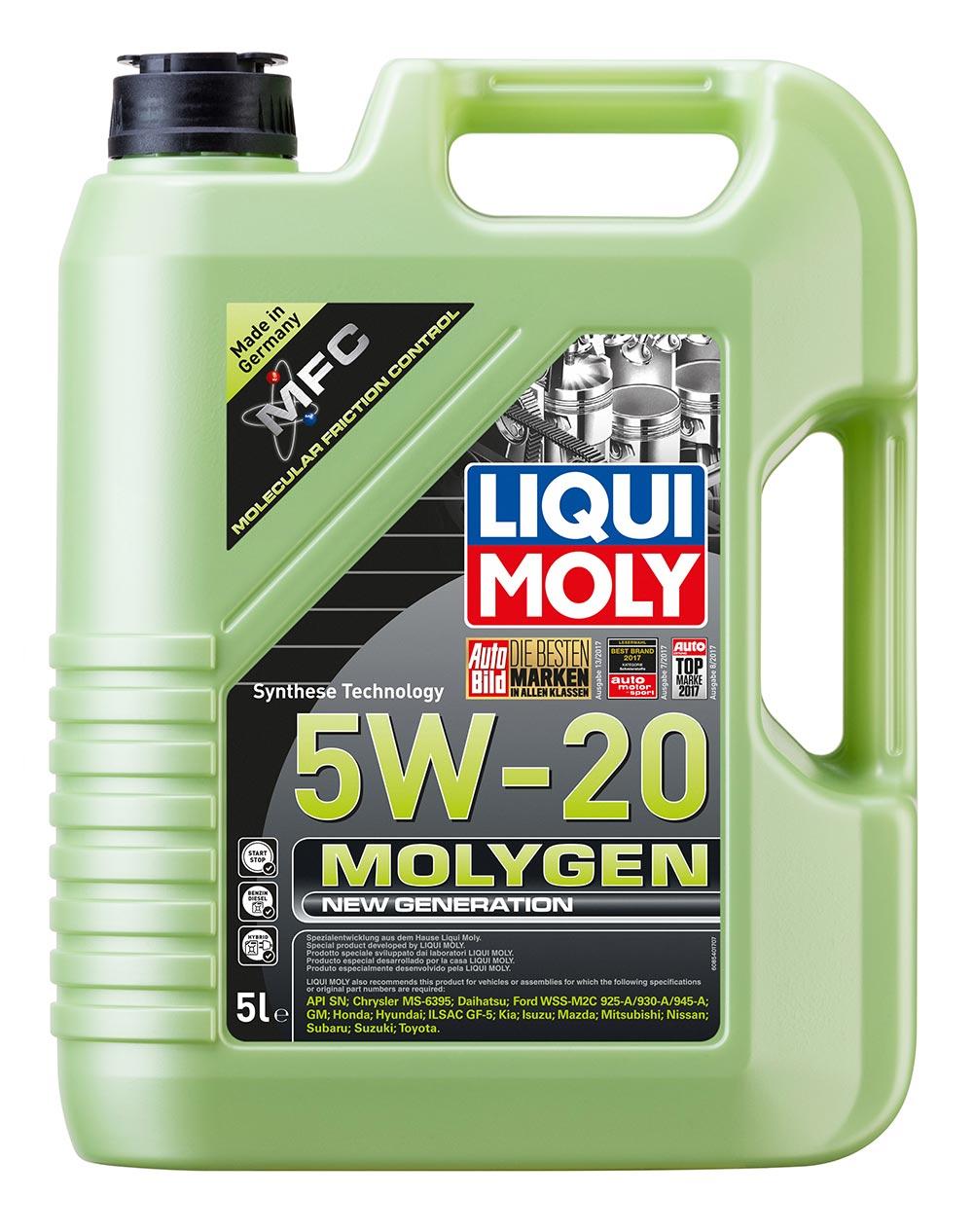 Масло моторное синт.5W20 Molygen New Generation 5л API SN ILSAC GF-5 Chrysler MS
