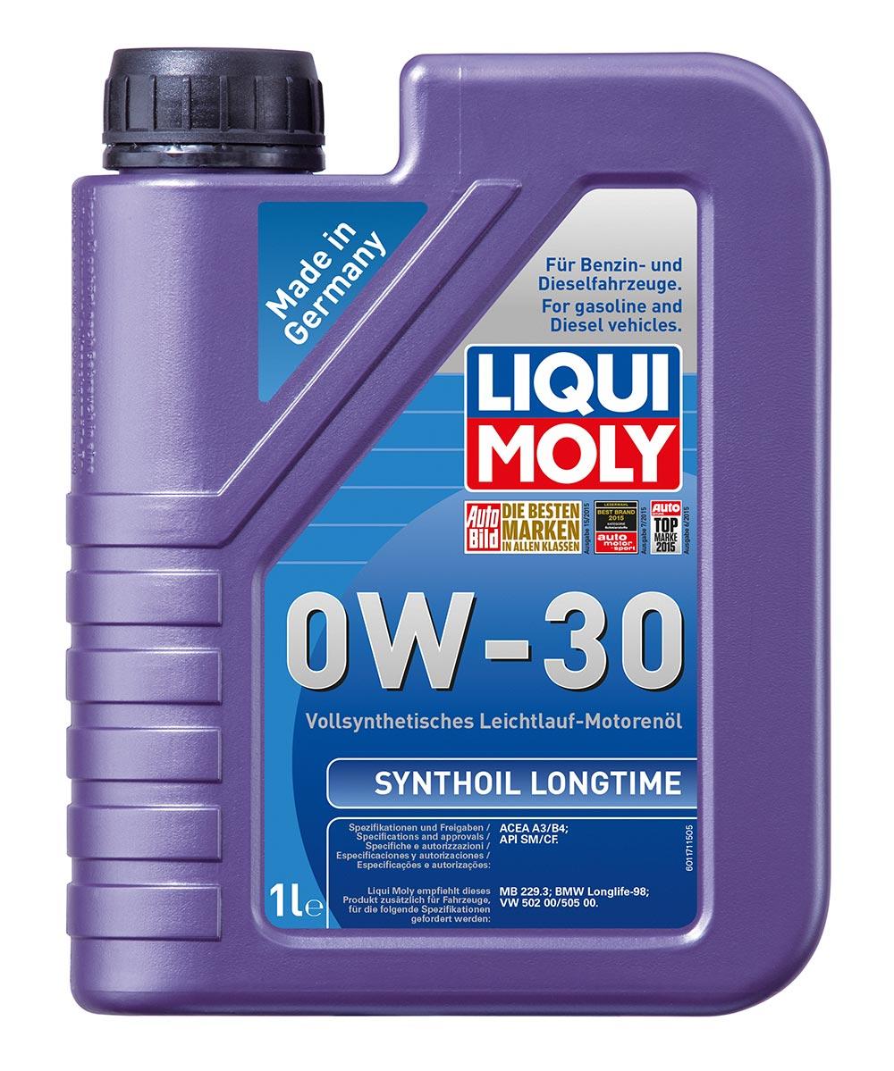 Масло моторное синт.0W30 Synthoil Longtime 1л API SM/CF.ACEA A3/B4.MB229.3.VW 50