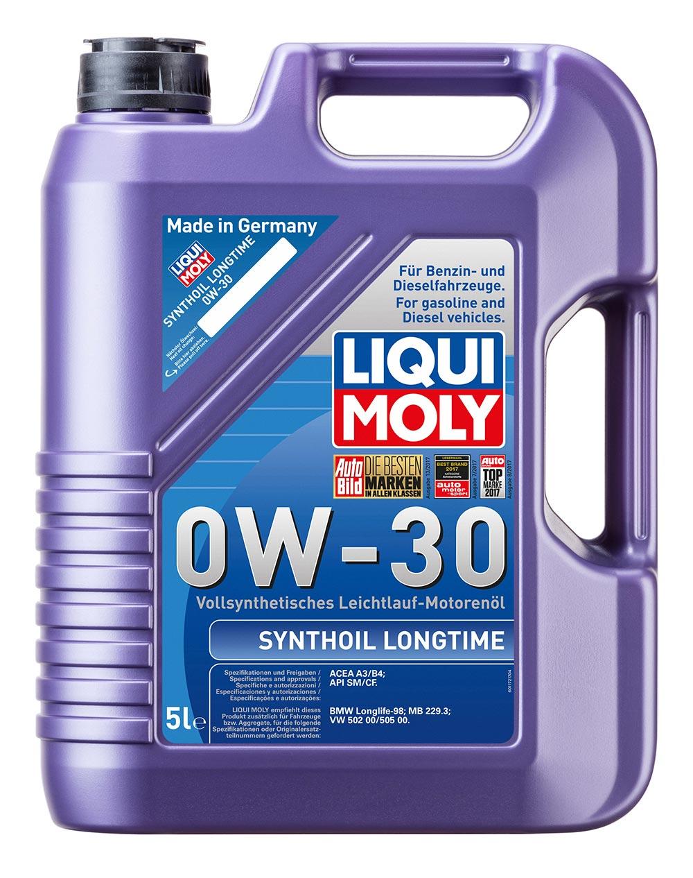 Масло моторное синт.0W30 Synthoil Longtime 5л API SM/CF.ACEA A3/B4.MB229.3.VW 50