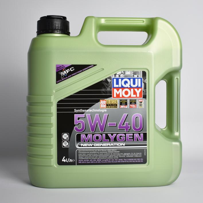 Масло моторное синт.5W-40  Molygen New Generation 4л ACEA A3 ACEA B4 API SN BMW