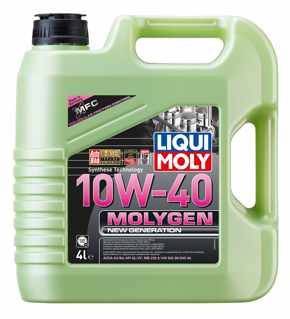 Масло моторное синт.10W-40 Molygen New Generation 4л ACEA A3 ACEA B4 API SL MB 2