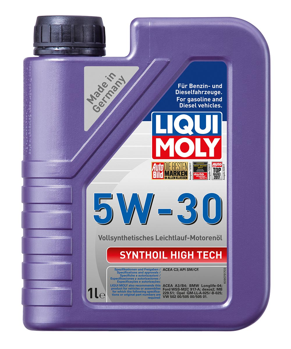 Масло моторное синт.5W30 Synthoil High Tech 1л ACEA C3 API SM API CF ACEA A3/B4