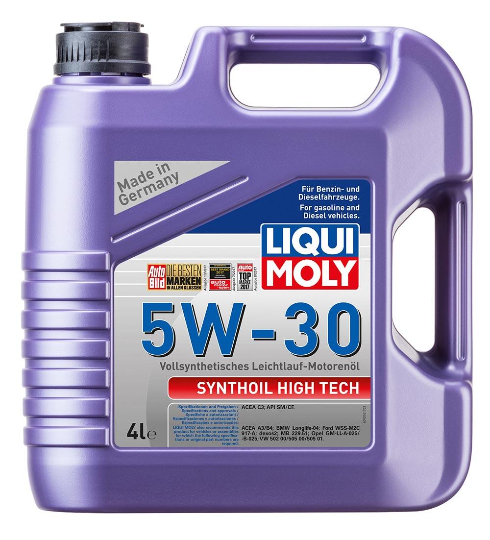 Масло моторное синт.5W30 Synthoil High Tech 4л ACEA C3 API SM API CF ACEA A3/B4