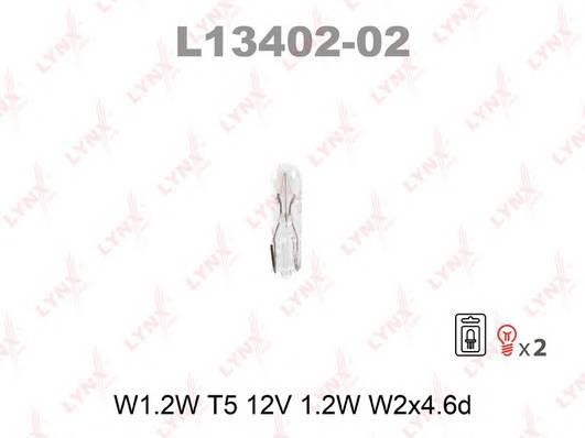 L13402-02 Лампа накаливания в блистере 2шт. W1.2W T512V 1.2W W2X4.6D