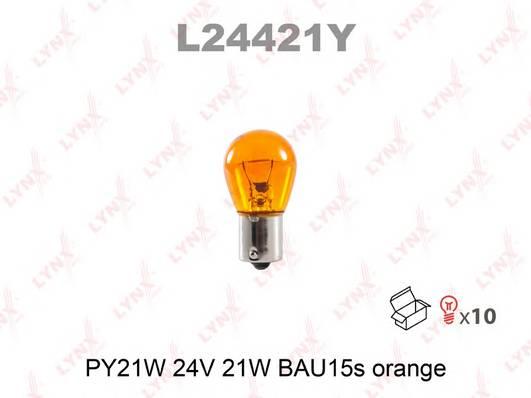 Лампа PY21W 24V BAU15s AMBER