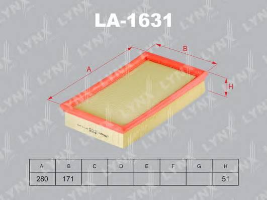 LA-1631 Фильтр воздушный FORD Focus II 1.8D-2.0D 04> . C-Max 1.8D-2.0D 03-07. VO