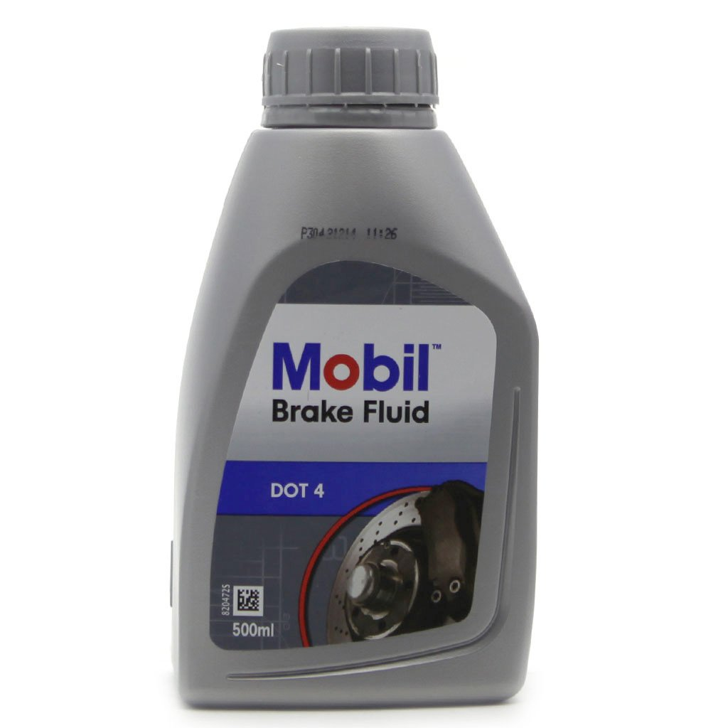 Жидкость тормозная Mobil Brake Fluid universal DOT 4 и DOT 3  (0 5л)
