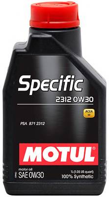 Масло моторное синтетическое Specific 0W-30. 5л