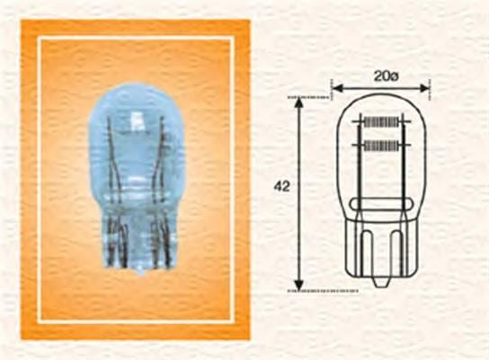 Лампа накаливания заднего габарита и стоп-сигнала W3 T20 21 5W 12V standartmin10