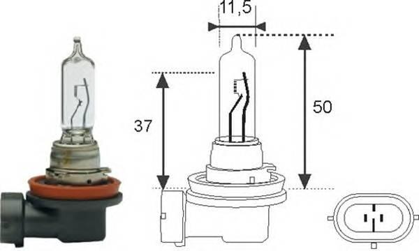 Лампа H9 65W 12V Standart