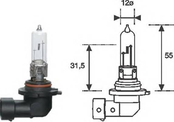 Лампа HB3 12V standart