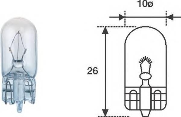 Лампа габаритная 12V- W5W (бесцокольная)