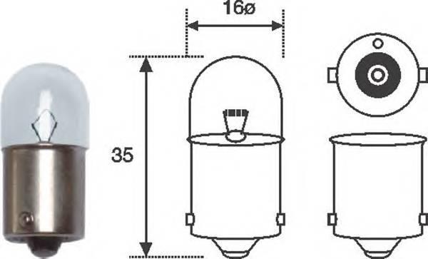 Лампа R5W 12V standart min10