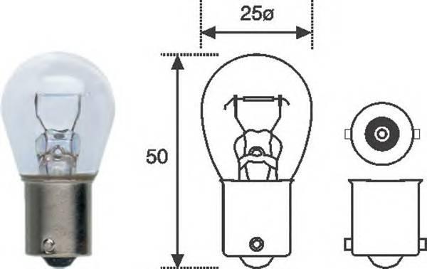 Лампа P21W 12V standart min 10