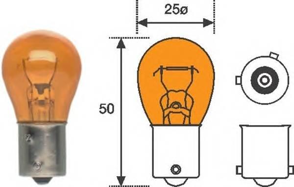 Лампа PY21W 12V standart min10