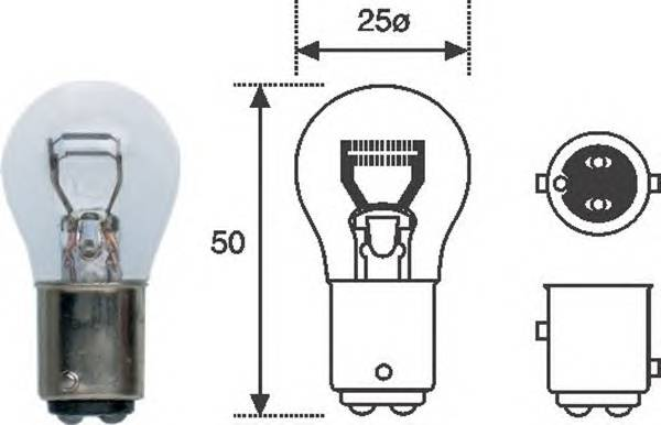 Лампа P21W5W 12V standart min 10