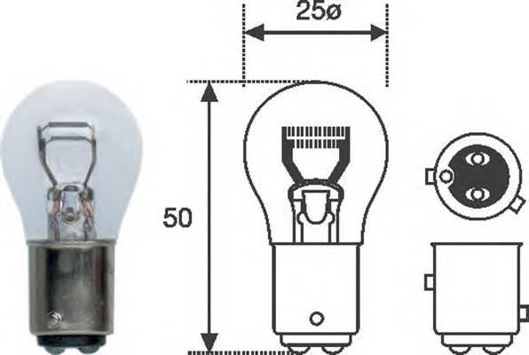 Лампа P21W4W 12V standart min 10