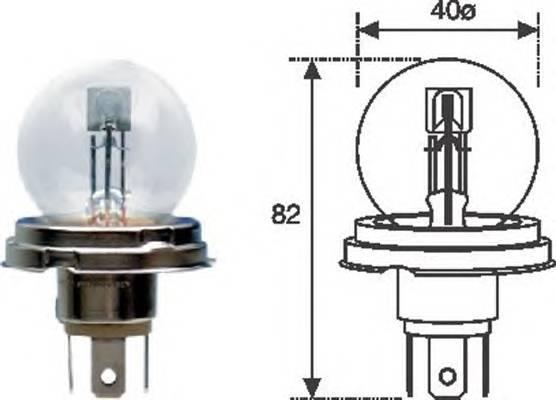 Лампа R2 12V standart
