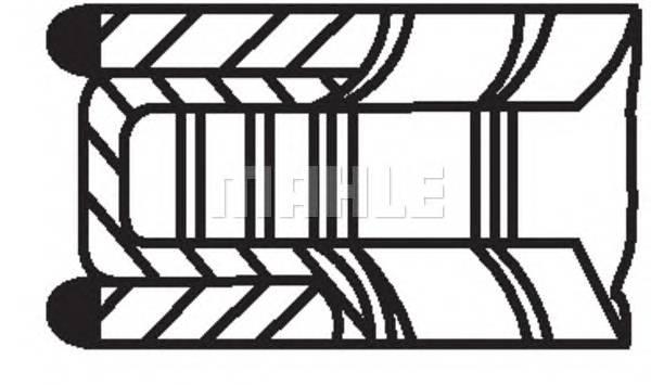 Кольца поршневые d83.2x1.5x1.75x3 STD (1) MB W210/W211 2.4 V6 M112 97>