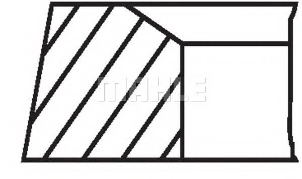 Кольца поршневые MB 2.2/2.7/3.2 CDi OM611-OM613 97> d88x2.5x2x3 std (1)