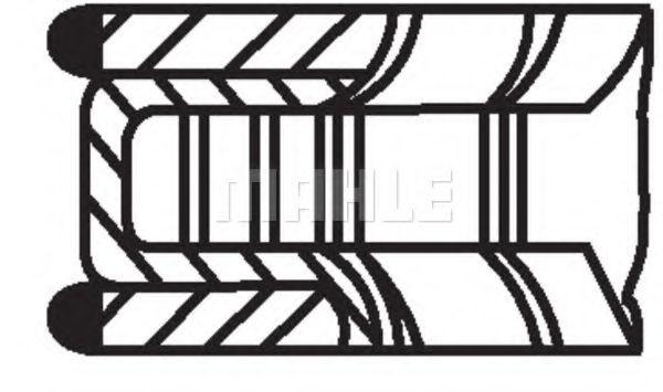 Кольца поршневые d77.6x1.2x1.5x2 +0.5 (1) Opel Astra/Corsa 1.4 99>