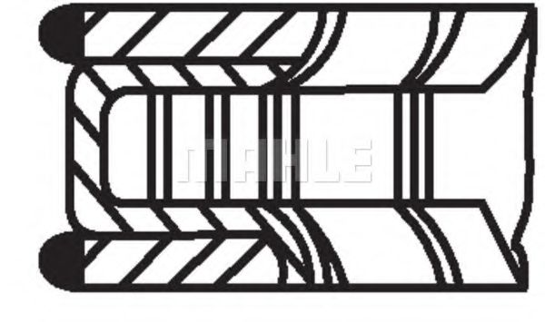 Кольца поршневые d83x1.2x1.2x2.5 +0.5 (1) Ford Focus/Mondeo. Mazda 6 1.8 00>