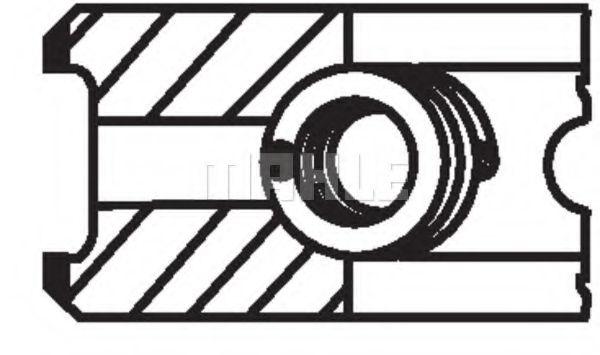 Кольца поршневые d80x2x2x3 +0.5 (1). Renault R21/Clio 1.9D F8Q 89>
