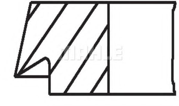 Кольца поршневые d75x1.75x2x3 STD (1) VW Golf 1.0-1.3 81>
