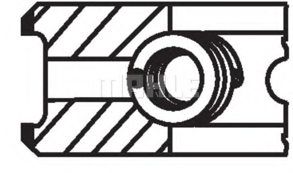 Кольца поршневые d76.5x1.75x2x3 +0.5 Audi 80/100. VW 1.6D-2.4TD 81>