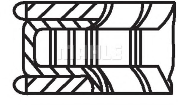 Кольца поршневые  d89x1 5x1 5x2 STD (1)  BMW E32 E34 4 0 M60