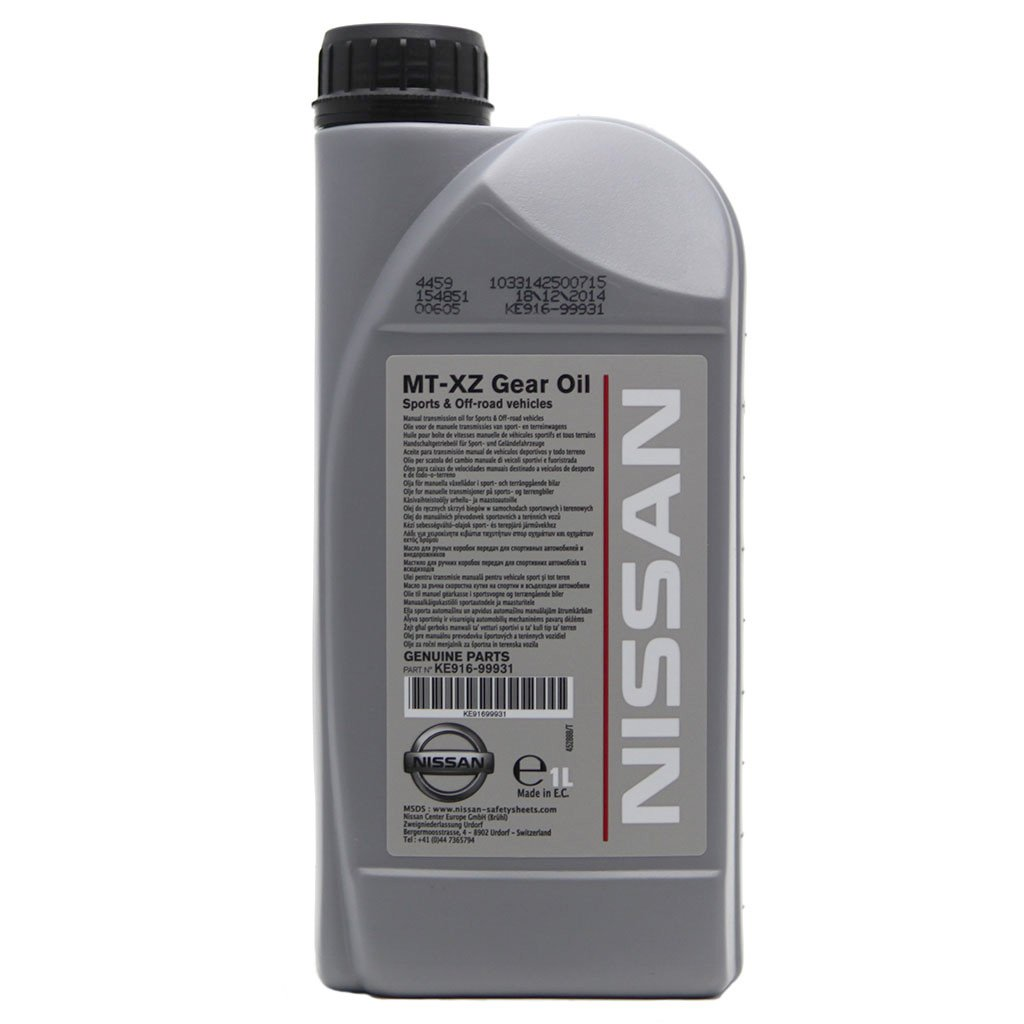 Масло трансмисионное NISSAN MT-XZ 75W-85 API GL4+ (1л)