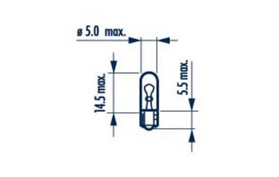 Лампа накаливания W1 2W 12V 1 2W W2X