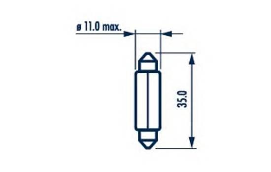 Лампа накаливания  C5W  12В 5Вт