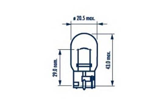 Лампа WY21W 12V NVA CP (10) STANDARD