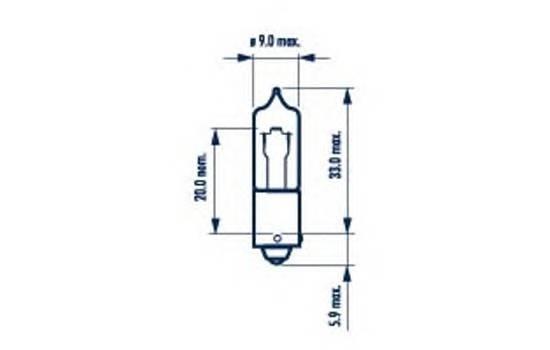 Комплект галогенных ламп 10шт в упаковке H21W 12V 21W BAY9s