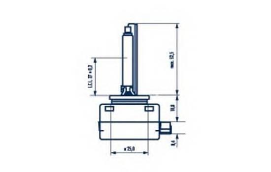 Лампа газоразрядная d1s standart 85v 35w