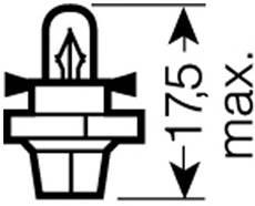 Лампа  1 2W 12V цоколь BX8 4d ORIGINAL LINE