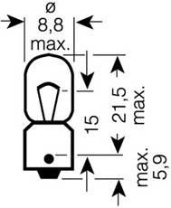Лампа T4W  4W 12V цоколь BA9s ORIGINAL LINE