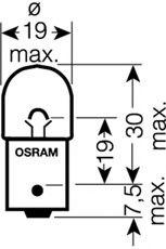 Лампа R10W  10W 12V цоколь BA15s ORIGINAL LINE