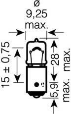 Лампа H6W  6W 12V цоколь BAX9s (Original Line)