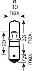 Лампа H21W (21W) BAY9s 12V  4008321095190