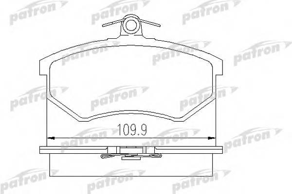 Колодки тормозные дисковые передн AUDI 80 91-94 80 Avant 9
