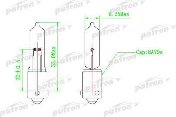 Лампа галогенная (10шт в упаковке) H21W 12V 21W BAY9s