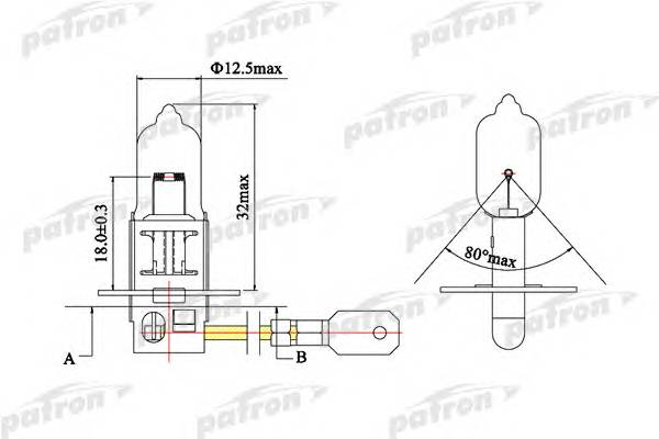 Лампа галогенная H3 12V 55W PK22s