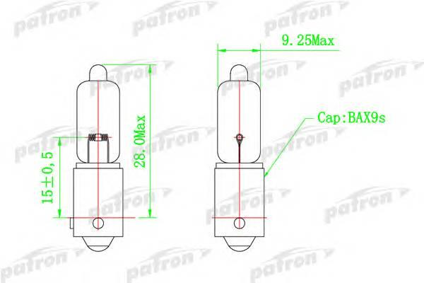 Лампа галогенная H6W 12V 6W BAX9s