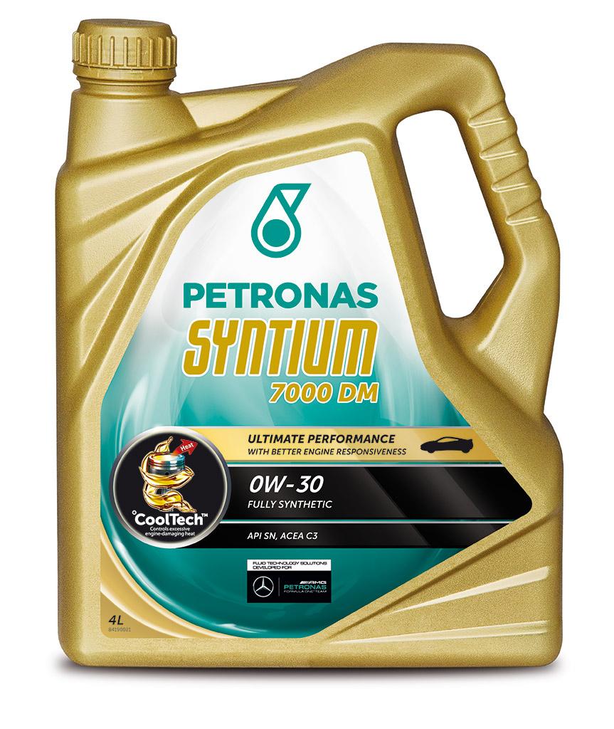 Масло моторное PETRONAS SYNTIUM7000 DM 0W30 4 л. ACEA C3API SN