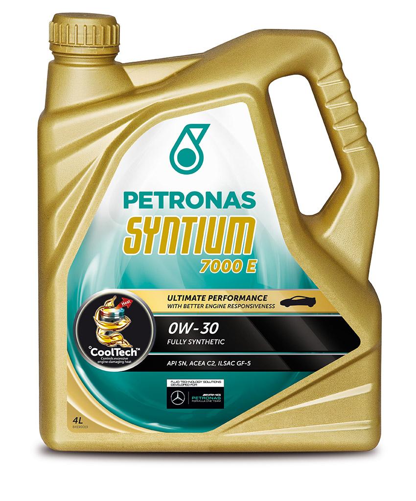 Масло моторное PETRONAS SYNTIUM7000 E 0W30 4 л. ACEA C2API SN