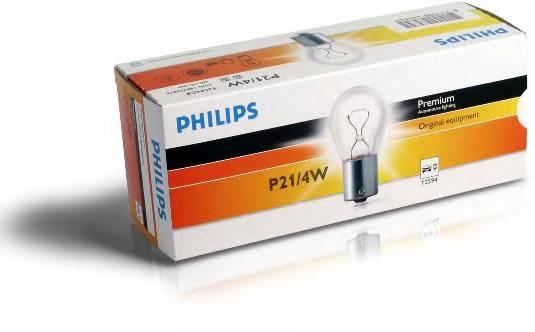 Лампа P21 4W 12V 21 4W BAZ15D