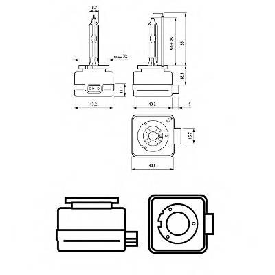Лампа D3S 42V(35W) Xenon Vision картон